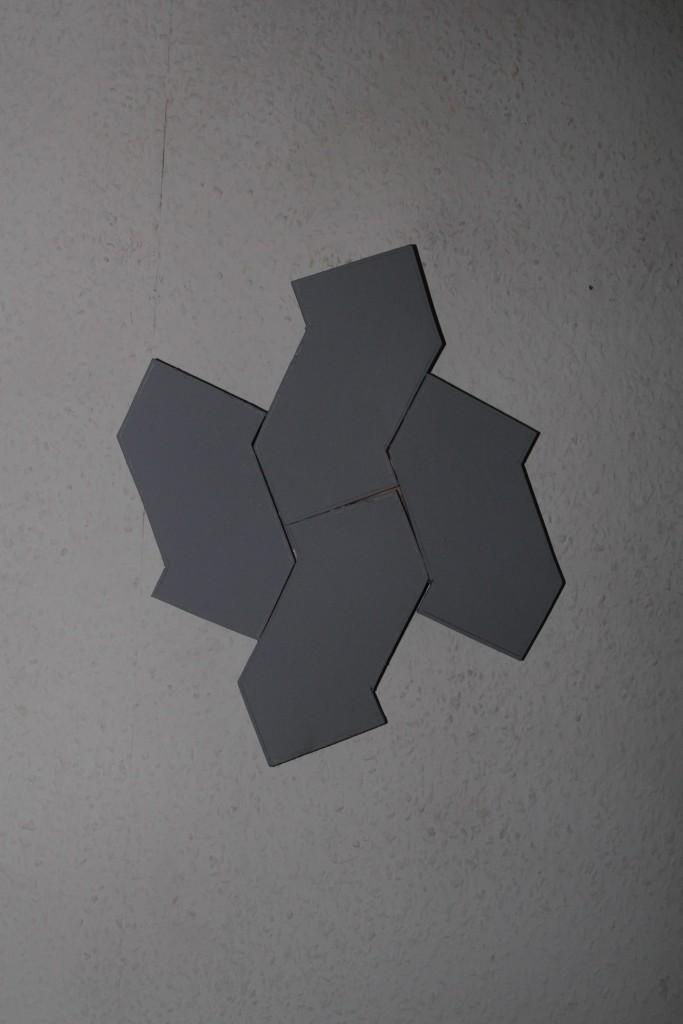 "WVZ 13-12-17, Acryl auf Sperrholz, ""Betonpflaster (SF)"", 2017, 29 x 34"