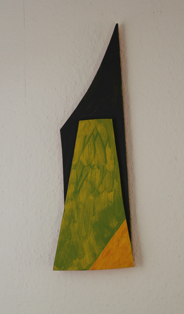 """WVZ 3-6-18, Acryl auf Sperrholz, Relief, """"Kapitalismus und Umwelt (nach uns die Sintflut)"""", 2018, ca. 15,5 x 46"""