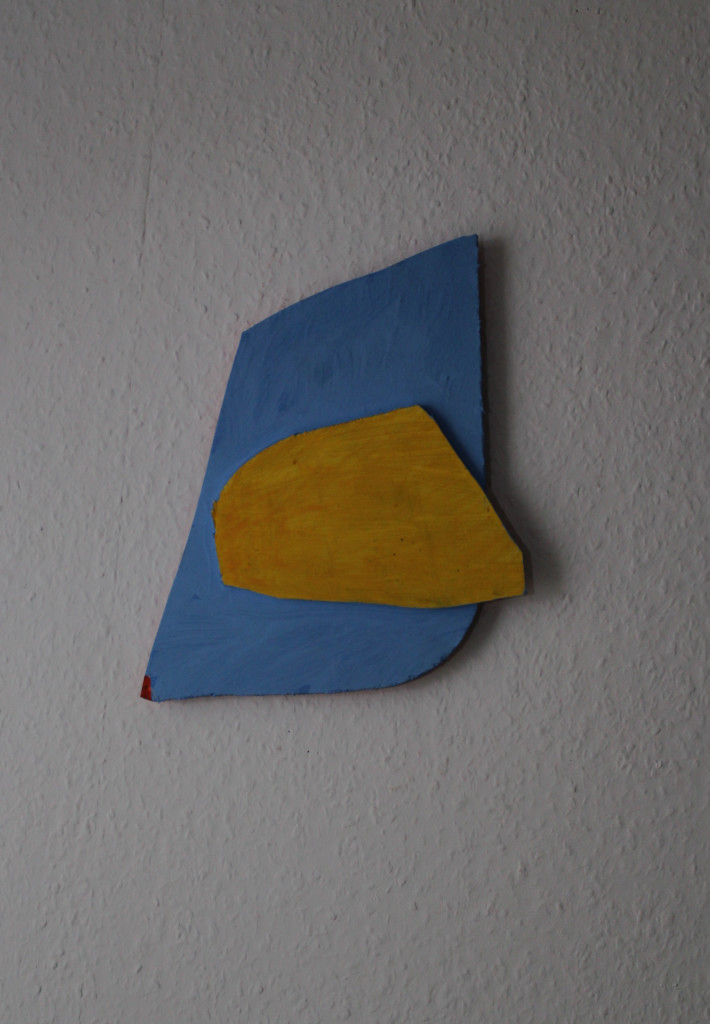 """WVZ 2-7-18, Acryl auf Sperrholz, Relief, """"Pinguin und Eisscholle"""", 2018, ca. 23 x 27"""
