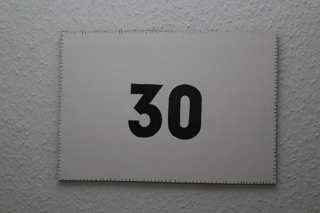 """WVZ 3-8-18, Acryl, Faserstift auf Sperrholz, """"Objekt: """"30"""", 2018, 38 x 26,5"""