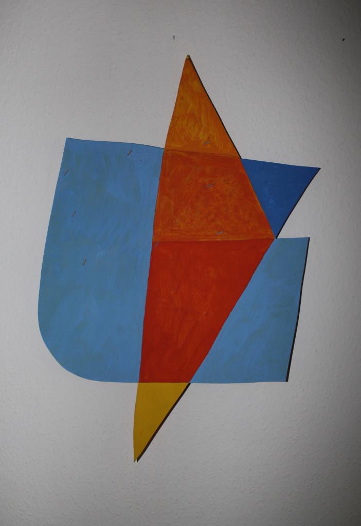 "WVZ 2-8-18, Acryl auf Kiefersperrholz, ""im Haifischbecken"", 2018, ca. 51 x 78"