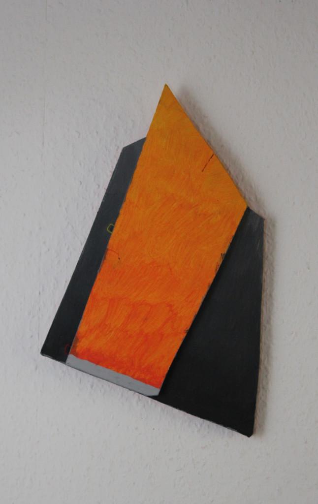 """WVZ 2-10-18, Acryl auf Sperrholz, Relief, """"freischwebend"""", 2018, ca. 23 x 37"""