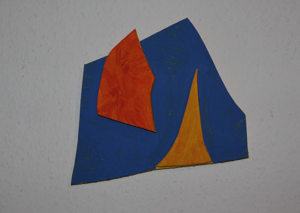 """WVZ 4-11-18, Acryl auf Sperrholz, Relief, """"Elias"""", 2018, ca. 23,5 x 23,5"""
