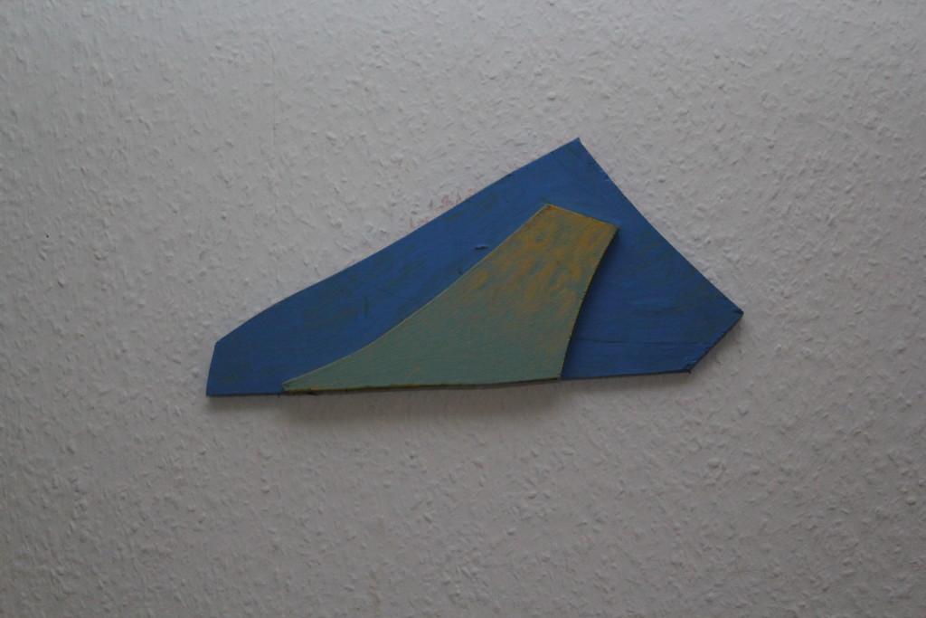 """WVZ 3-12-18, Acryl auf Sperrholz, Relief, """"Packeis"""", 2018, ca. 34 x 15"""
