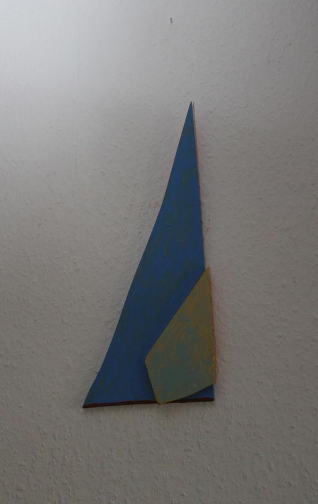 """WVZ 11-12-18, Acryl auf Sperrholz, Relief, """"deutlich rechtslastig"""", 2018, ca. 17 x 37,5"""