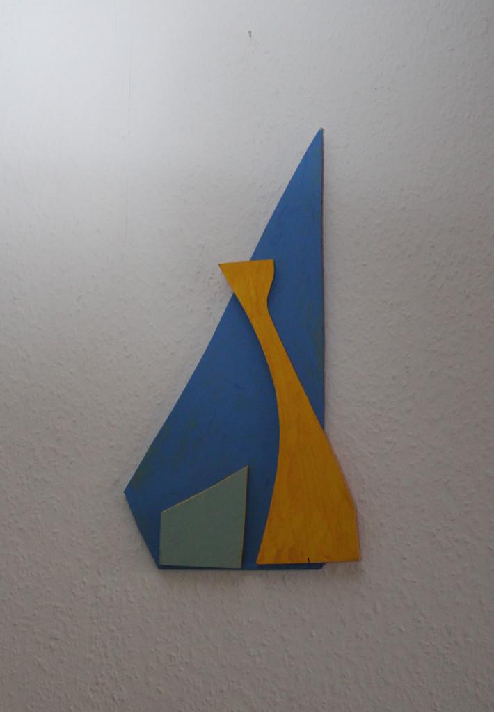 """WVZ 6-12-18, Acryl auf Sperrholz, Relief, """"vergleichen"""", 2018, ca. 43 x 23"""