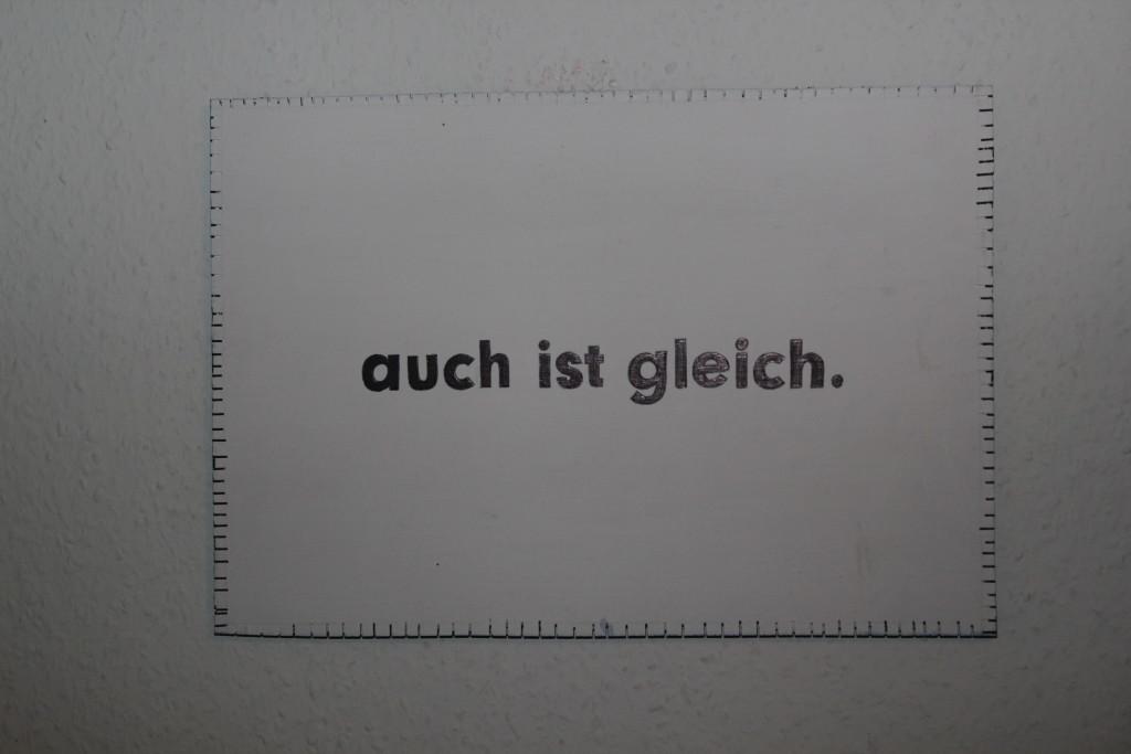 """WVZ 1-1-19, Acryl, Faserstift auf Sperrholz, """"Objekt: """"auch ist gleich."""", 2019, 38 x 26,5"""