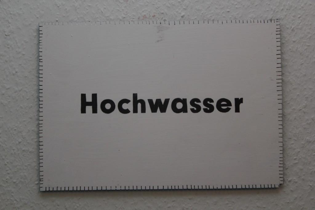 """WVZ 5-2-19, Acryl, Faserstift auf Sperrholz, """"Objekt: """"Hochwasser"""", 38 x 26,5"""